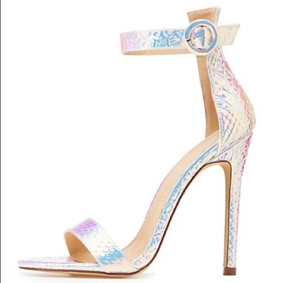 298f7a5e1114bf Two-piece iridescent heels by Charlotte Russe!